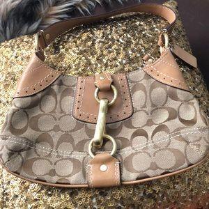 Small Coach Handbag, Tan